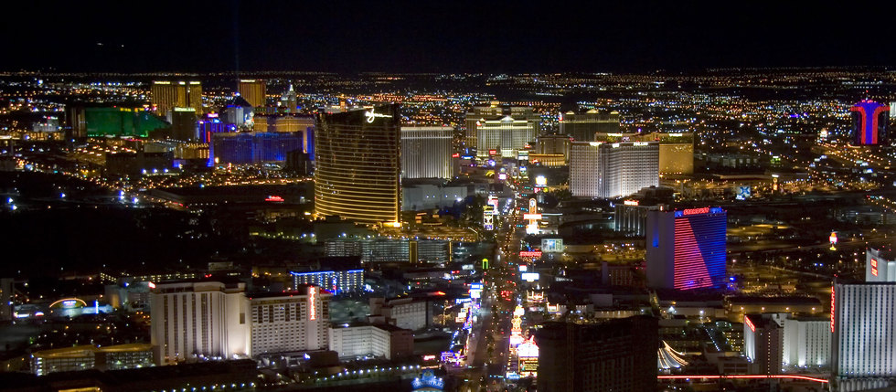 Las vegas strip aerial night