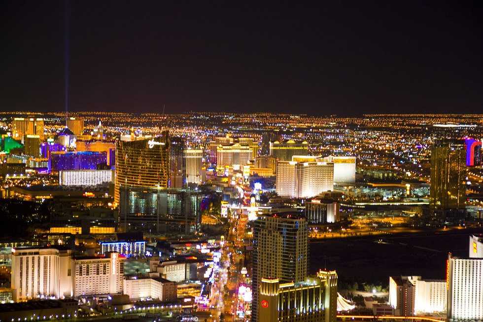 Las vegas strip aerial night2